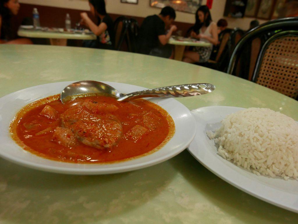 Nyonya Makko Restaurant, Masak Lemak in Melaka, Malaysia